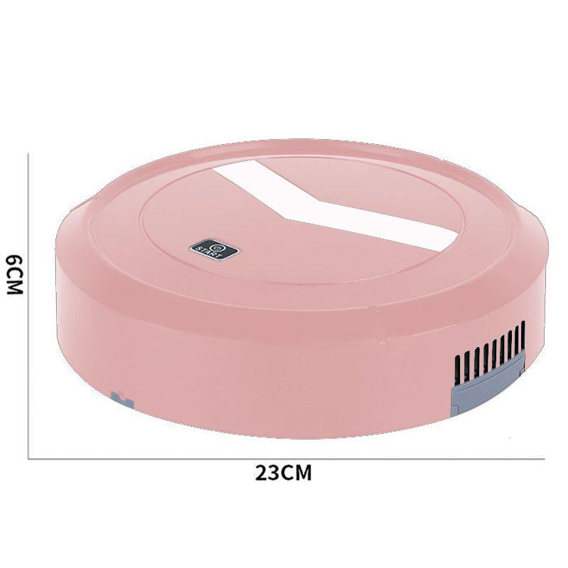Robo Aspirador de Po Varre Recarregavel Sensor Proximidade  Limpa Casa Rosa
