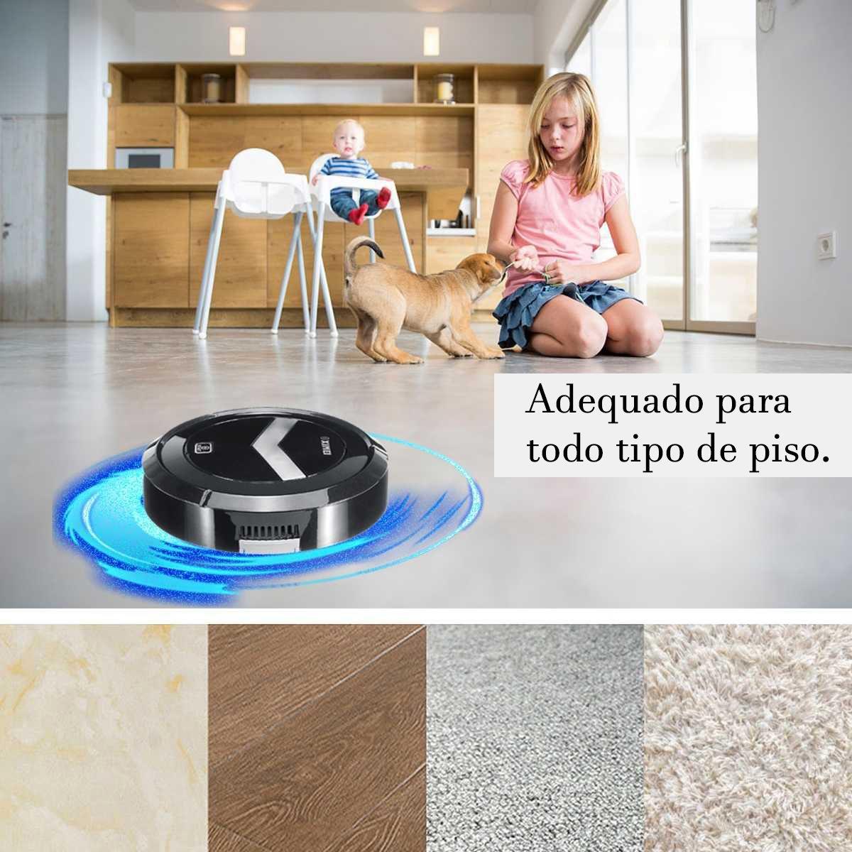 Robo Limpa Casa Sensor Automatico Varre Vassoura Aspirador de Po