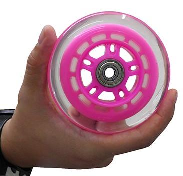 Roda Para Patinete e Patins Com Rolamento Abec 7 Esporte Avulsa Silicone Cor Rosa (RA-C)