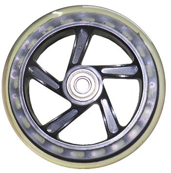 Roda Silicone Para Carrinho de Feira Rodinha Bebe Bagagem Mala Bagageiro Com Rolamento Abec 7 (RA-D)