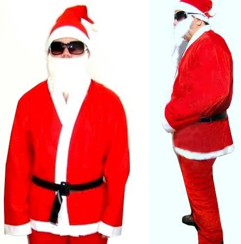Roupa Papai Noel Completa Natal e Natalino Gorro Com 5 Pecas (BSL-36041-15)