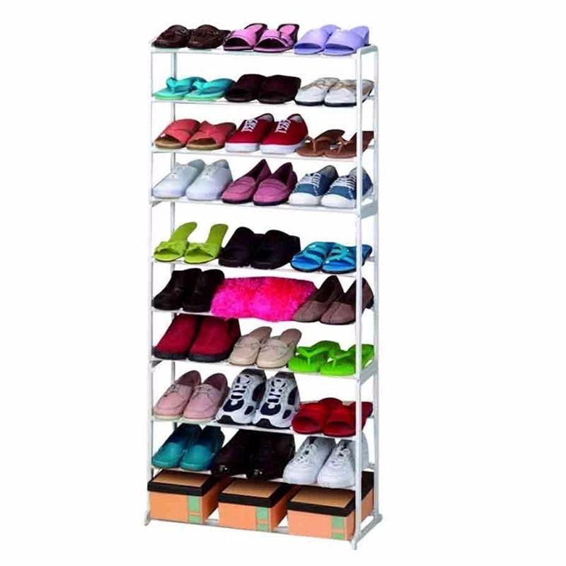 Sapateira 30 Pares 10 Andares Kit 5 uni. Vertical Sapato Casa Quarto Decoração Organização