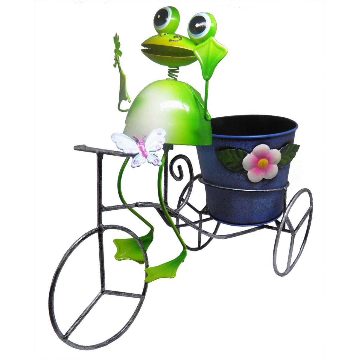 Sapo Bicicleta De Ferro Para Enfeite e Decoraçao Jardim e Flores (BON-P-14)