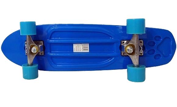 Skate Longboard Grande Retro Abec 7 Cor Azul (SKT-13)
