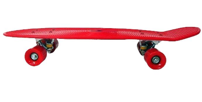 Skate Longboard Grande Retro Abec 7 Cor Vermelho (SKT-13)
