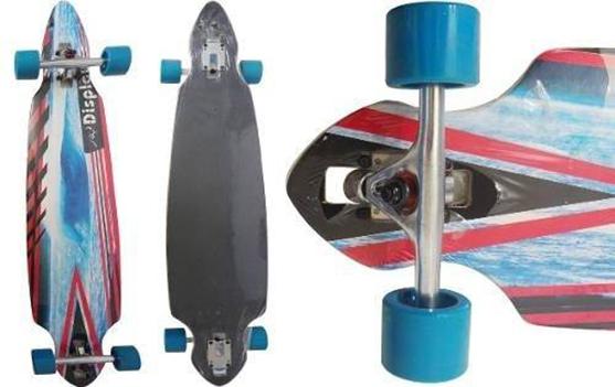 Skate Longboard Truck Invertido Abec 11 Cor Azul (SKT-5)
