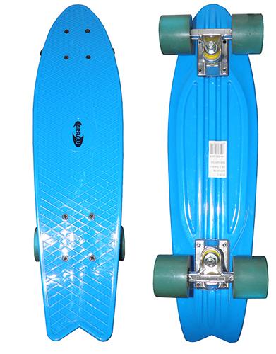 Skate Mini Longboard Retro Abec 7 Truck de Ferro Azul (SKT-12)
