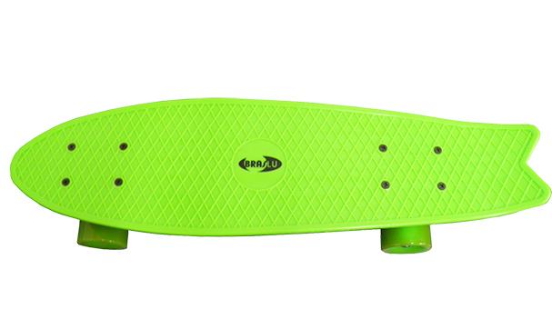Skate Mini Longboard Retro Abec 7 Truck de Ferro Cor Verde (SKT-12)