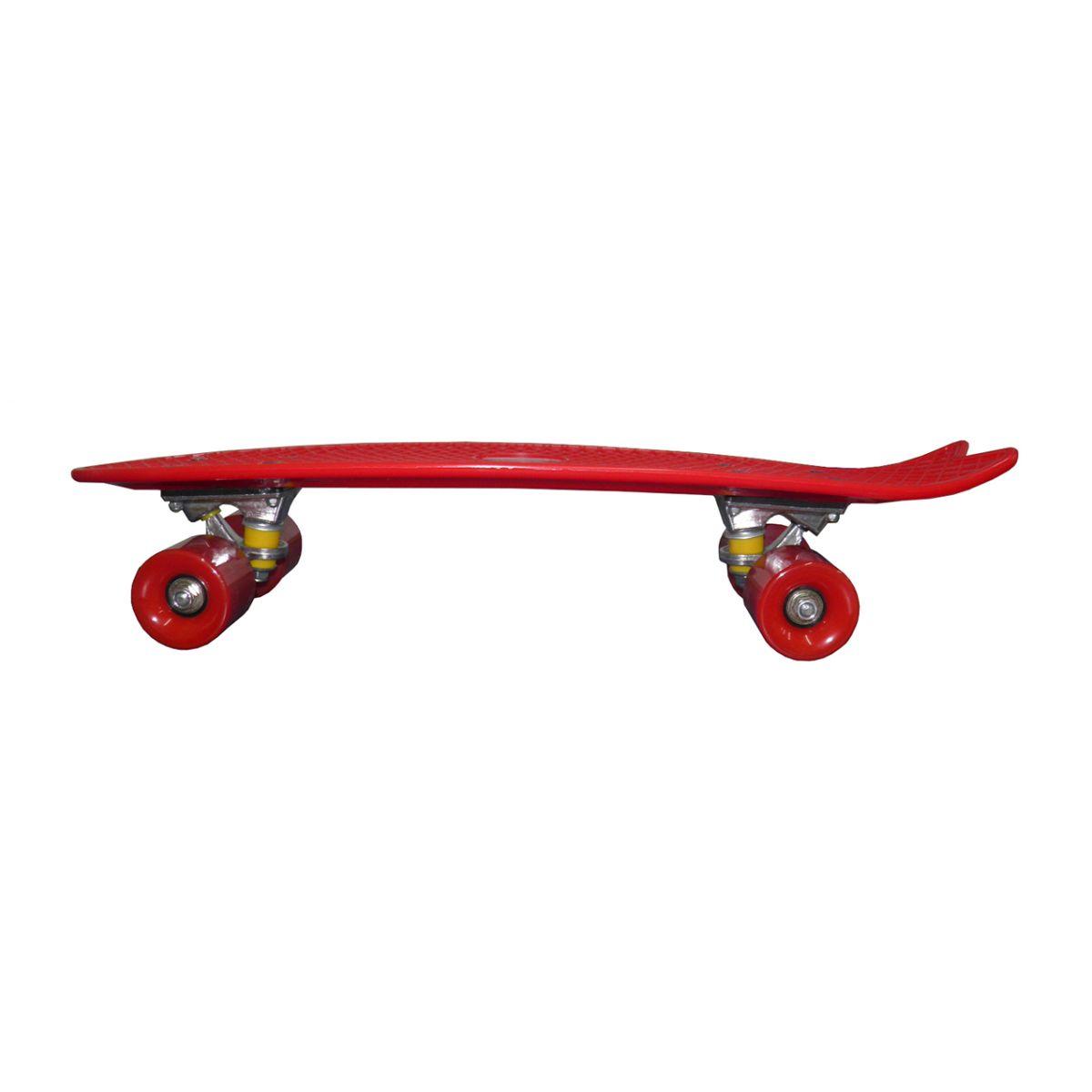 Skate Mini Longboard Retro Abec 7 Truck de Ferro Vermelho (SKT-12)