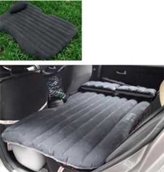 Sofa Cama Colchao Inflavel Carro Camping Viagem Dormir 2 Almofadas Preto (BSL-45765-7)