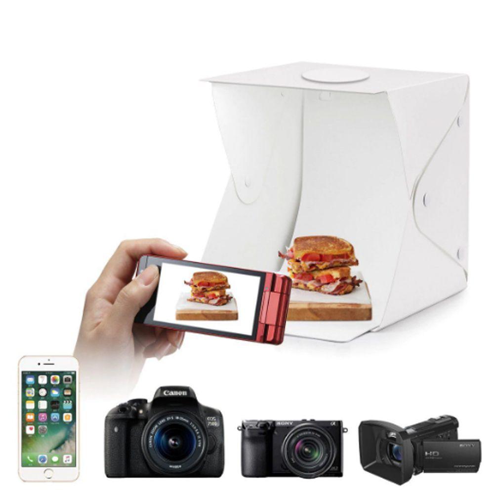Studio Fotografico Box Still Caixa de Foto LED 40 Cm Light Produto Profissional Youtuber
