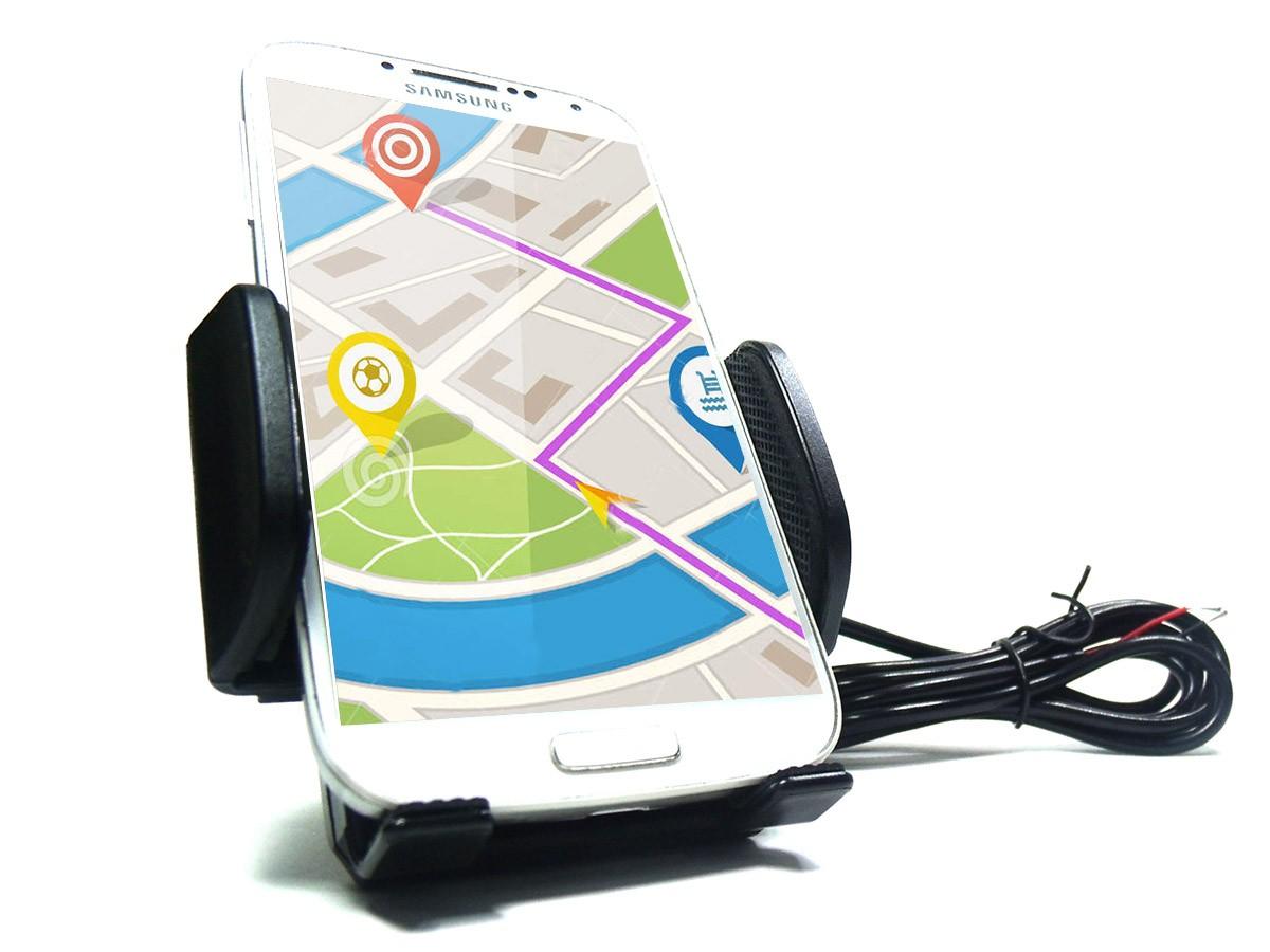 Suporte Para Moto Com Usb Carrega Celular Gps Motocicleta Smartphone (BSL-45765-1)