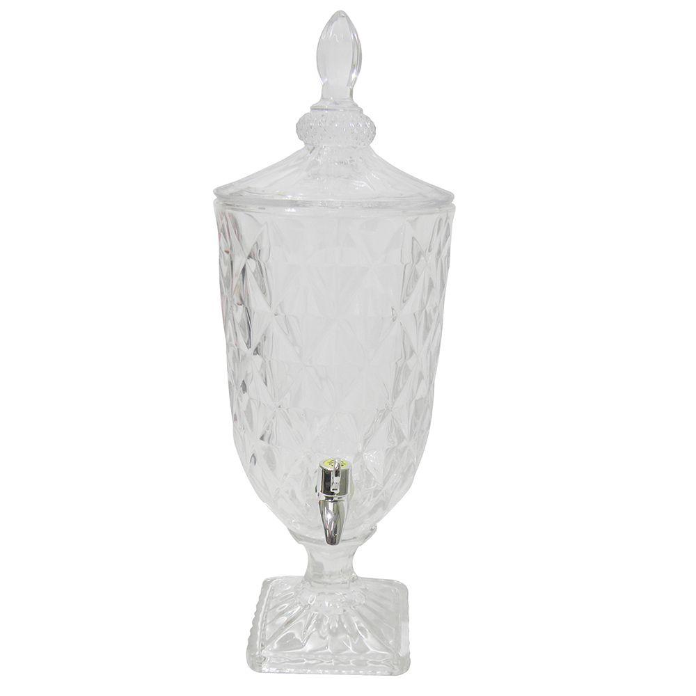 Suqueira 3 Litros Dispenser Vidro Casa Restaurante Cozinha Sucos Agua Drink