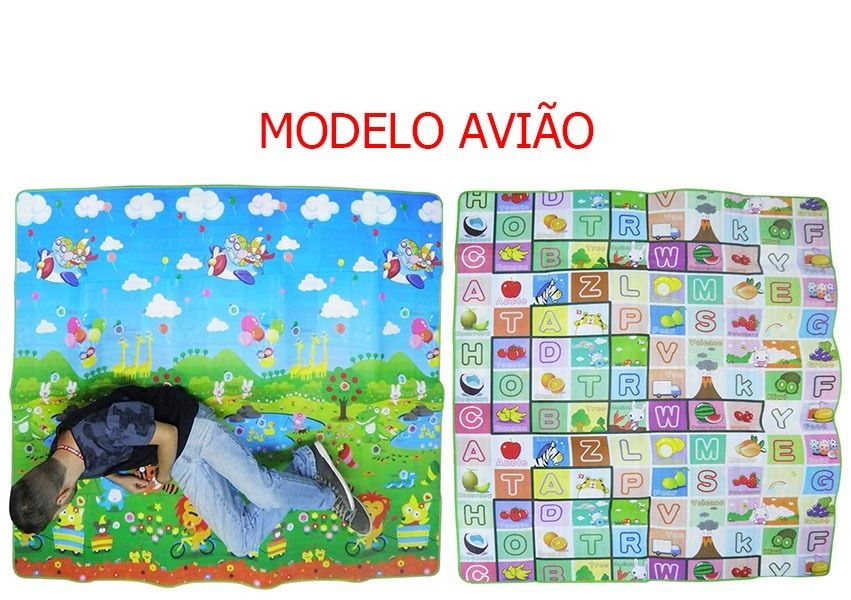 Tapete Infantil Dupla Face 2 Metros Impermeavel Criança Bebe (TOYS-0518)