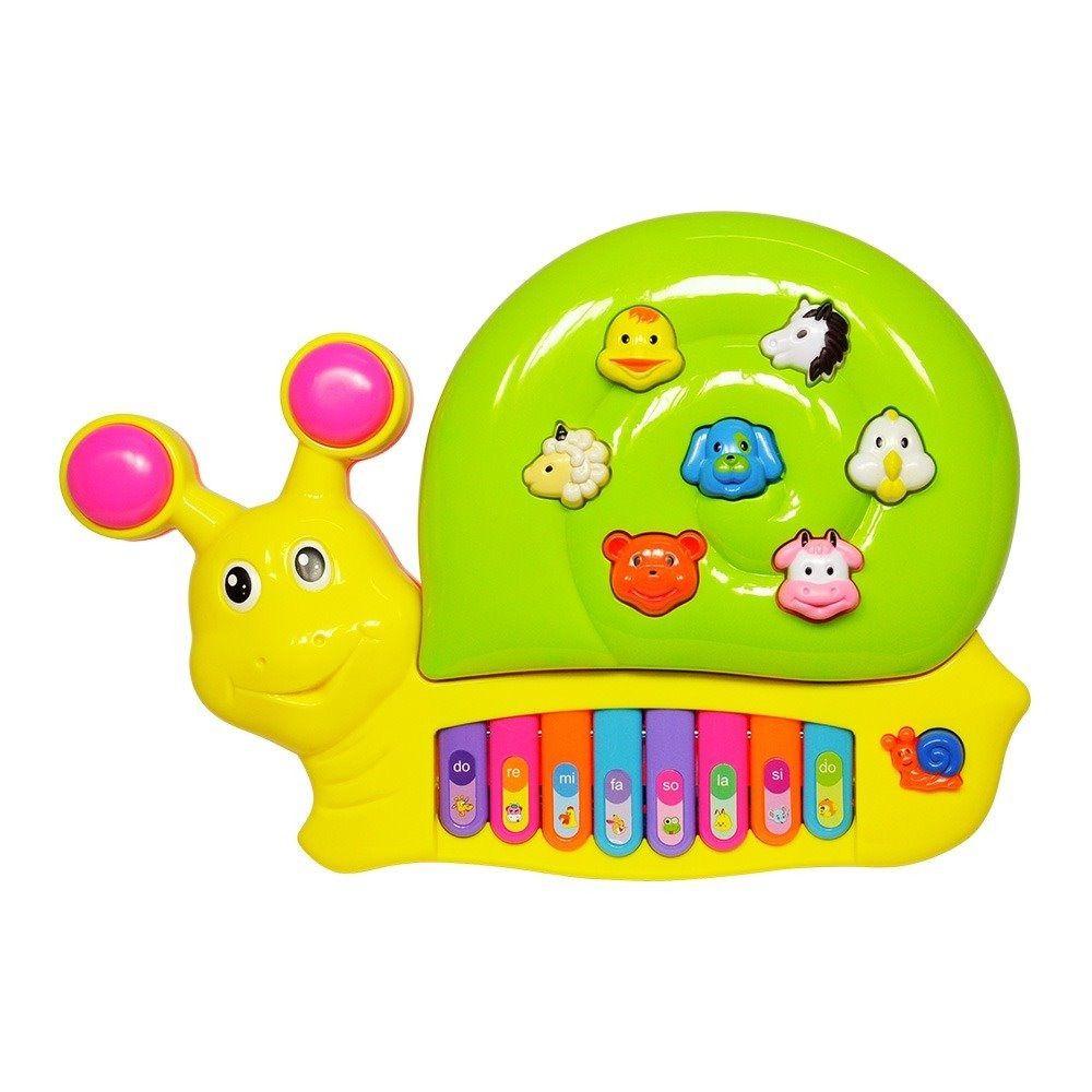 Tecladinho Crianca Divertido Caracol Brinquedo Infantil