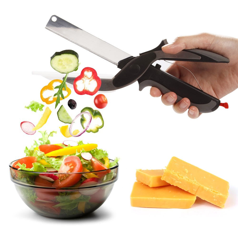Tesoura Cortadora de Alimento Clever Cutter 2 em 1 Corta e Fatia (93190)