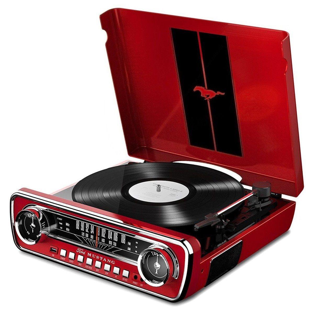 Toca Disco Usb Lp Mustang 4 Em 1 Radio Vintage Vitrola Vinil (MUSTANGLP)
