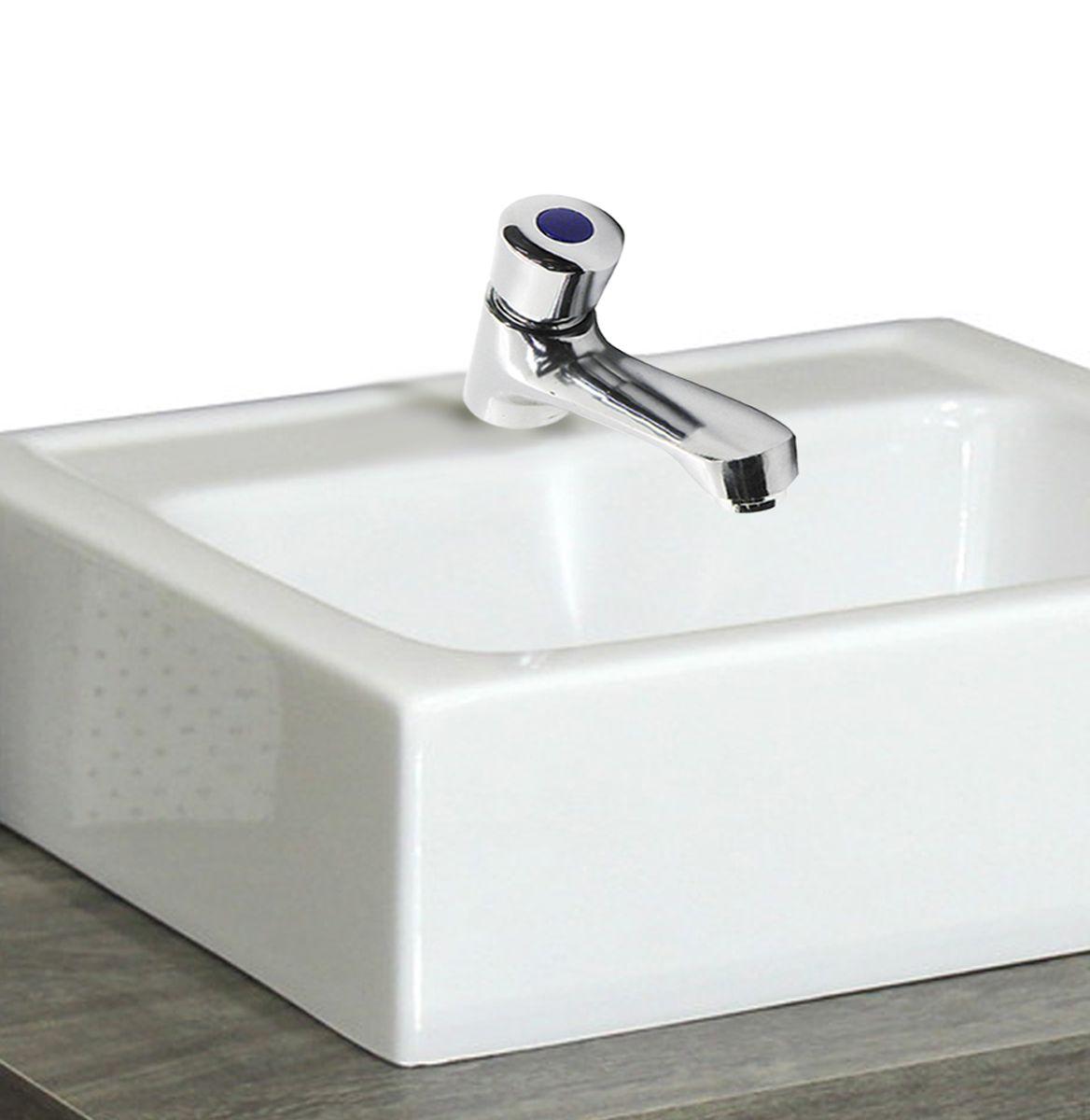 Torneira Automatica Pressão Aço Inoxidavel Banheiro Restaurante Pia