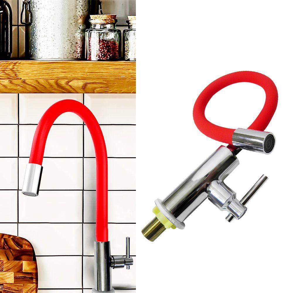 Torneira Metal Cromado Silicone Flexivel Cozinha Articulado Mesa Gourmet
