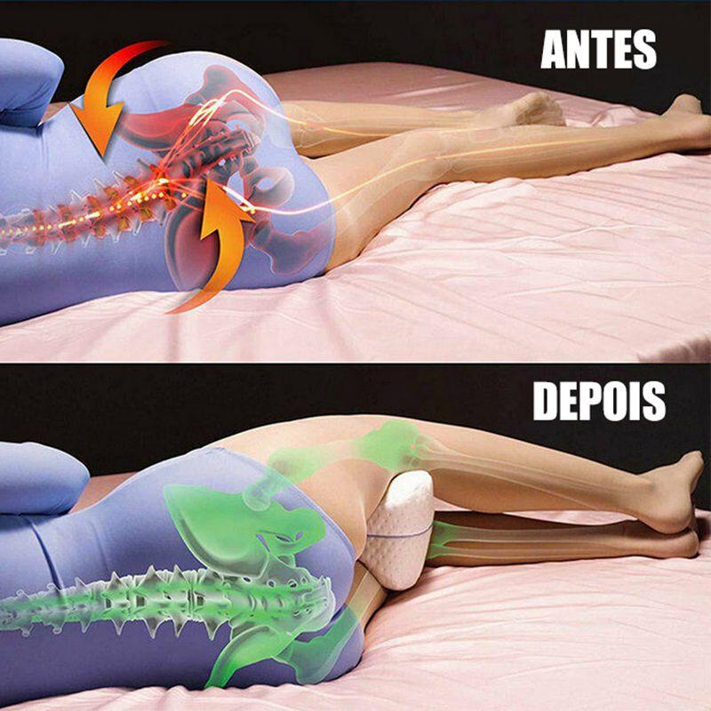 Travesseiro Alinha Coluna Dormir Dor nos Joelhos Nasa Gravida