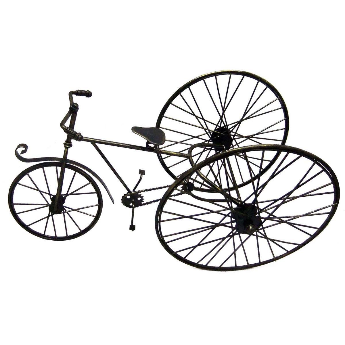 Triciclo Bicicleta Retro Vintage Metal Mesa Miniatura (REL-33)
