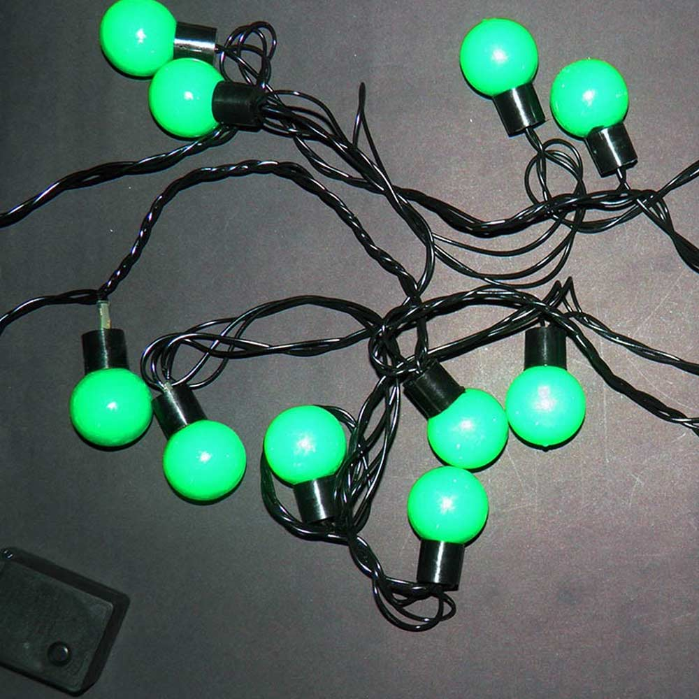 Varal 20 Lampadas de Led Pisca Pisca Natal 8 Funçoes Enfeite Natalino Verde (JA-80506)