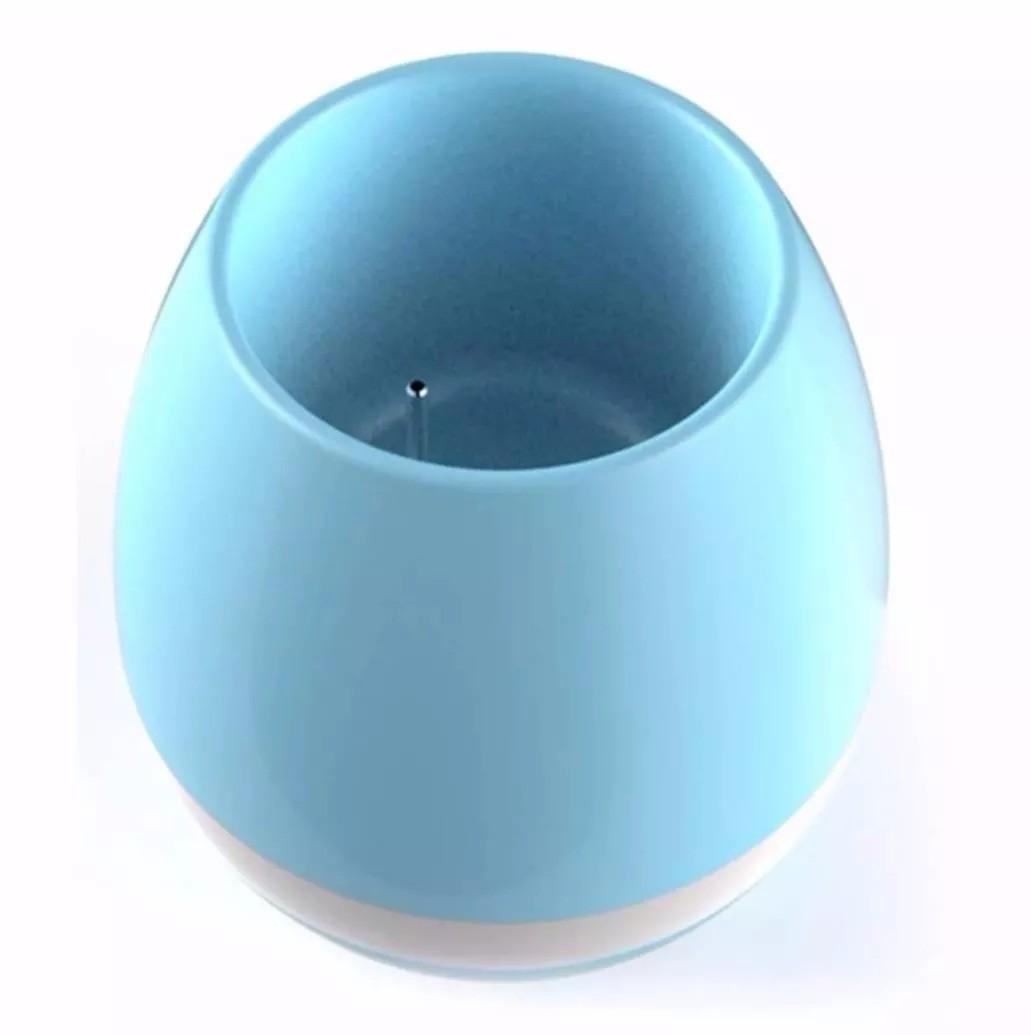 Vaso de Planta Musical Com Sensor Toque Caixa Som Bluetooth e Led Recarregavel Azul (bsl-iyh-1)