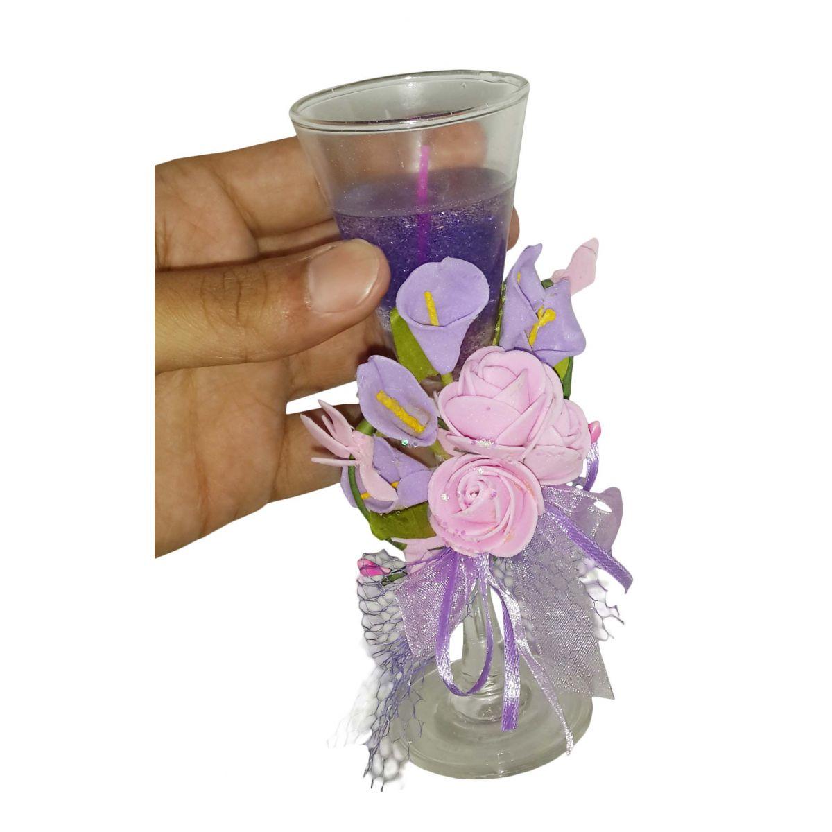 Vela Aromatizante Decorativa Mini Fragrancia Flores Lilas (WL-C)