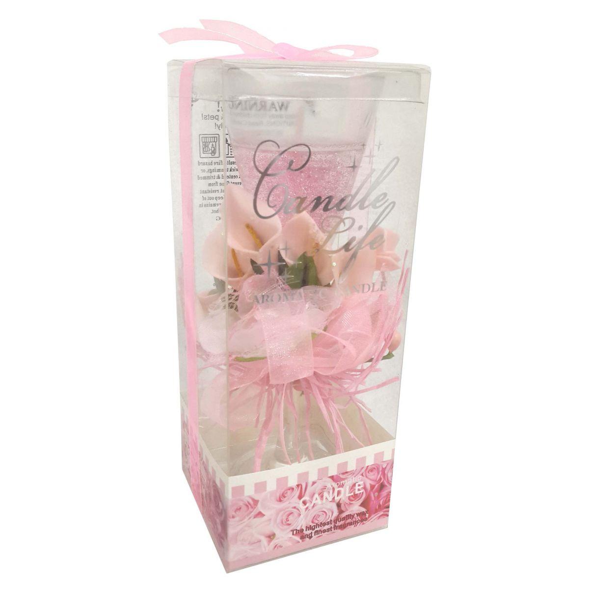 Vela Decorativa Pequena Eventos Casamento Flor Rosa (WL-C)