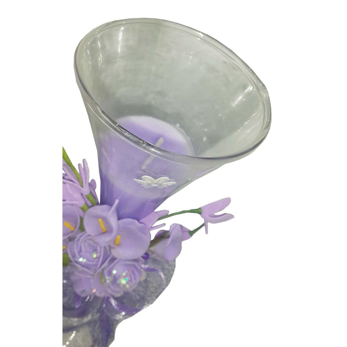 Vela Parafina Aromatizante Decorativa Grande Fragrancia Flores Lilas (WL-A)
