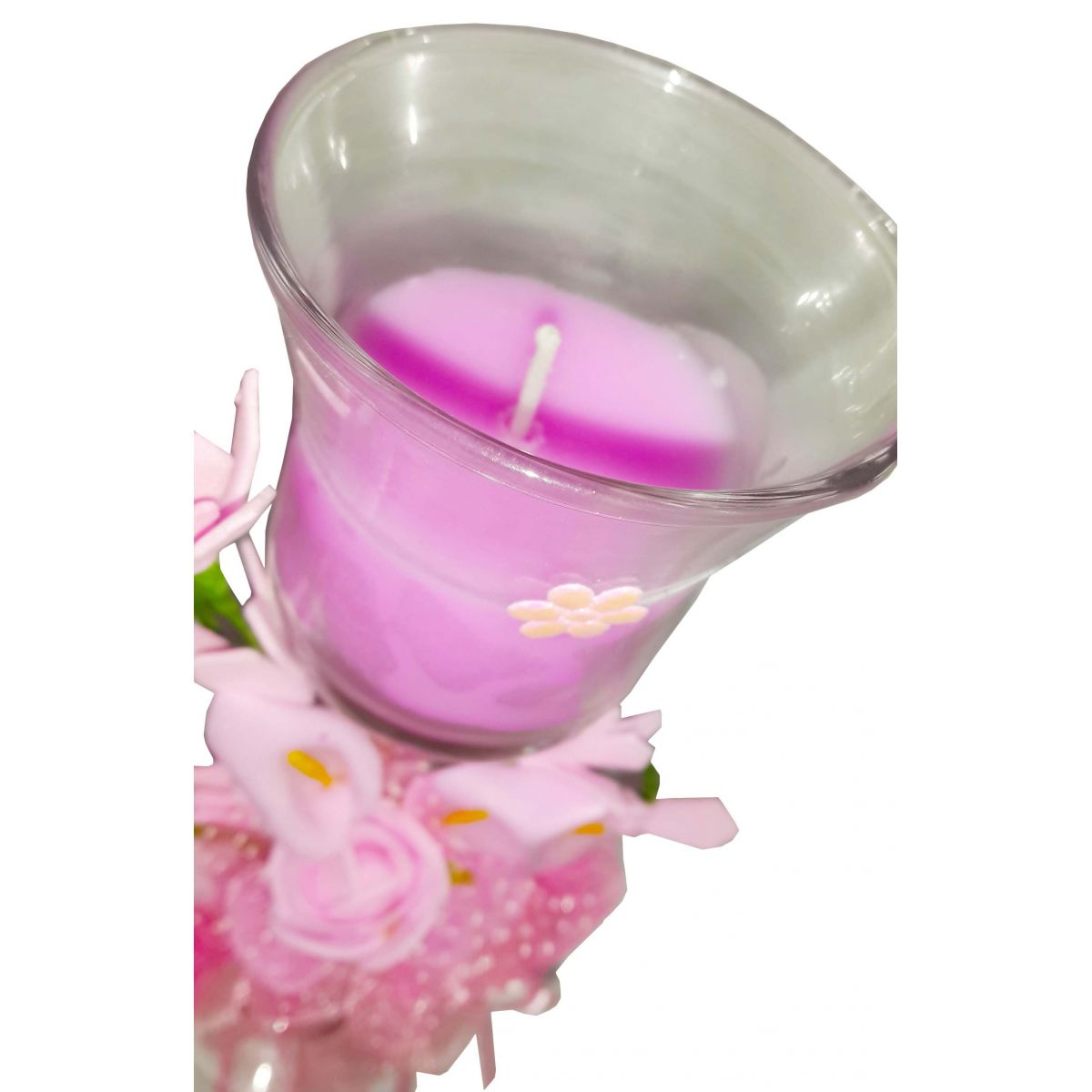 Vela Parafina Aromatizante Decorativa Media Fragrancia Flores Rosa (WL-B)