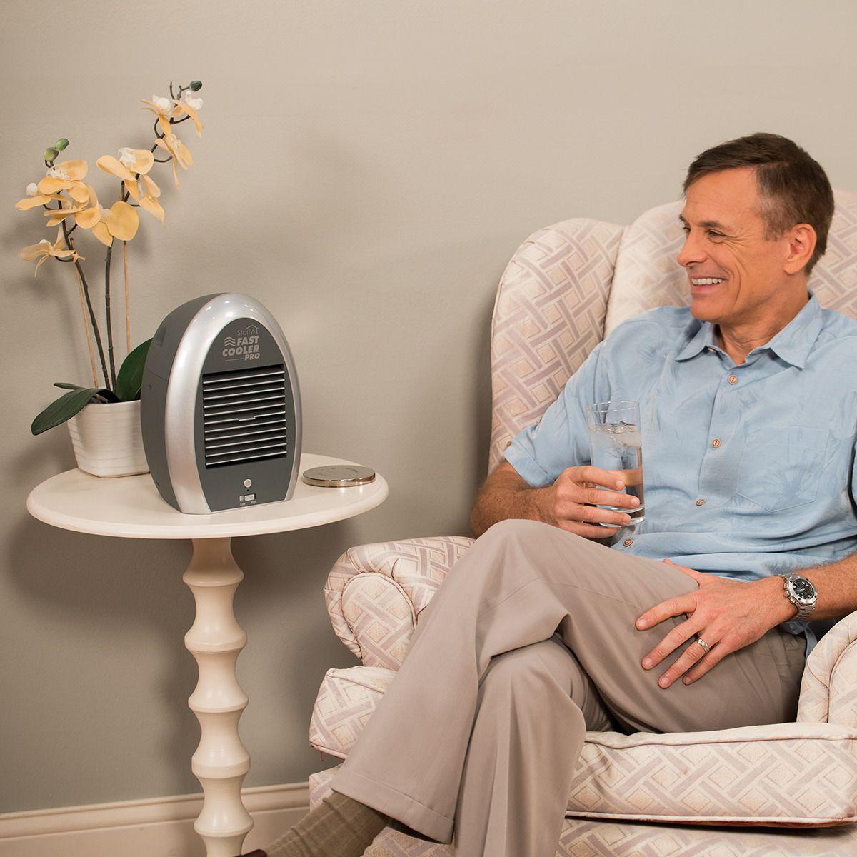Ventilador Mini Ar Climatizador Portatil Fast Cooler Fonte (MC41292)