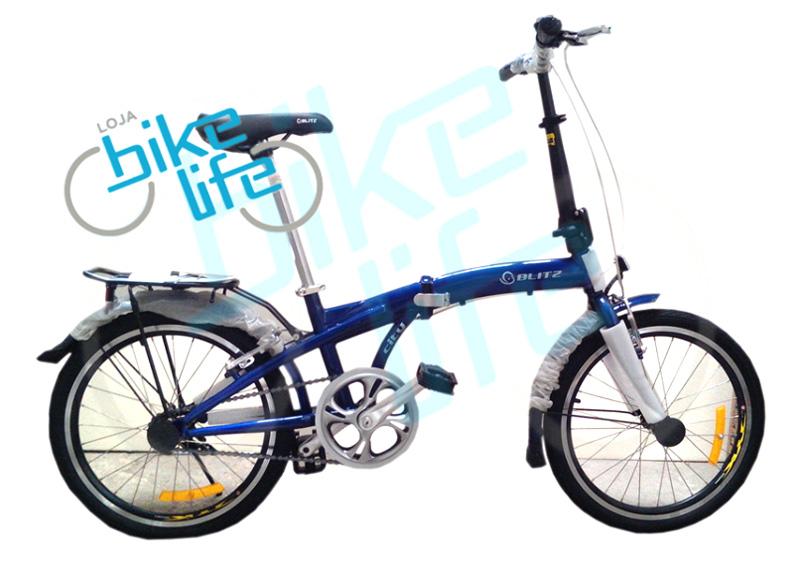 Bicicleta Blitz City dobr�vel azul