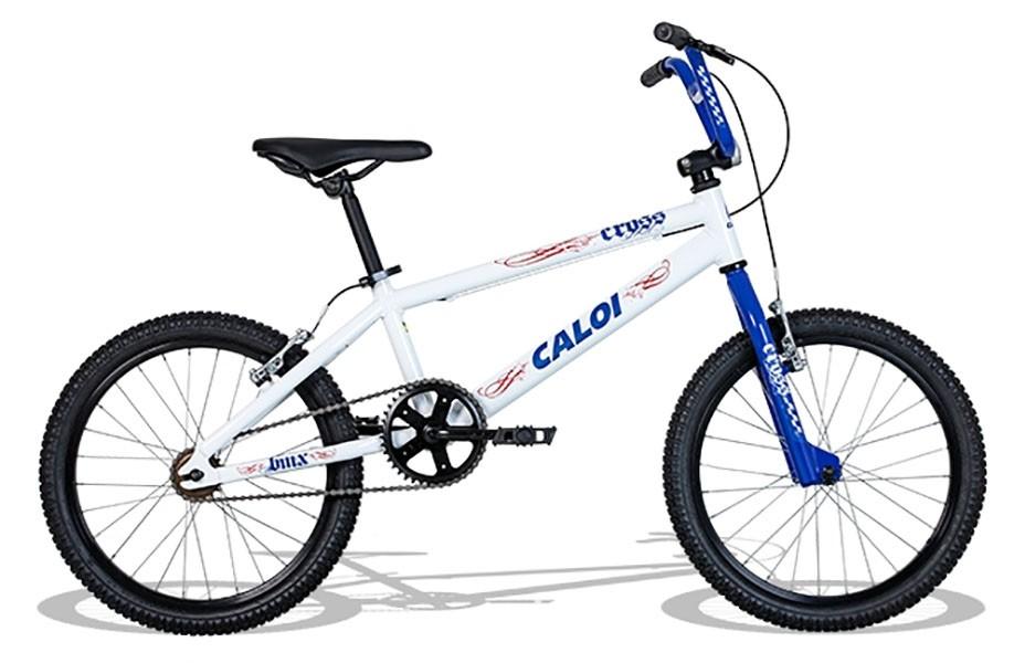 Bicicleta Caloi Cross - Aro 20 - Branca / Azul