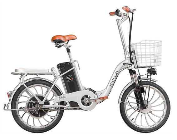 Bicicleta E-Club Life aro 20 elétrica (não dobra) cor cinza/prata