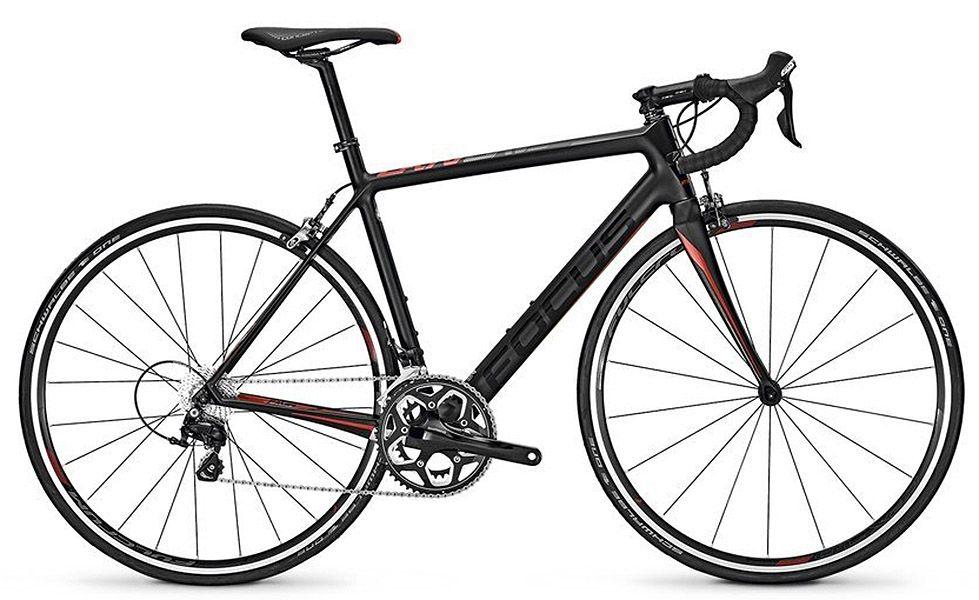 Bicicleta Focus - Cayo 105 Black - Preta / Vermelha + Pedal Shimano R550