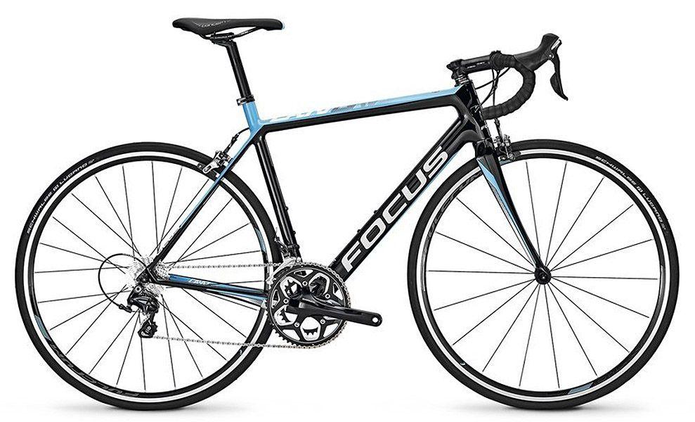 Bicicleta Focus - Cayo Ultegra - Preta / Azul + Pedal Shimano R550