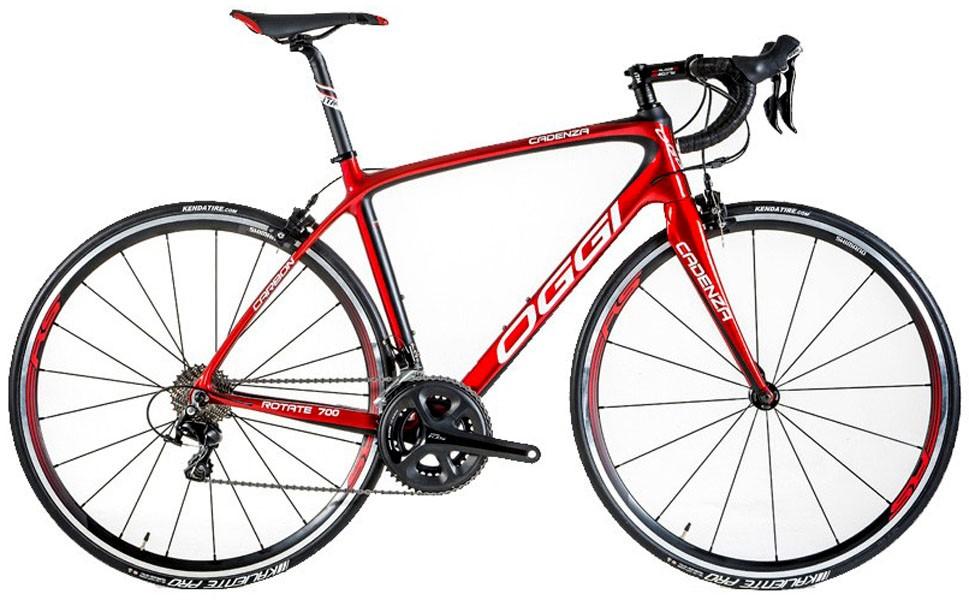 Bicicleta Oggi Cadenza - Vermelha / Preta - Tam 55 x 51 + Brinde