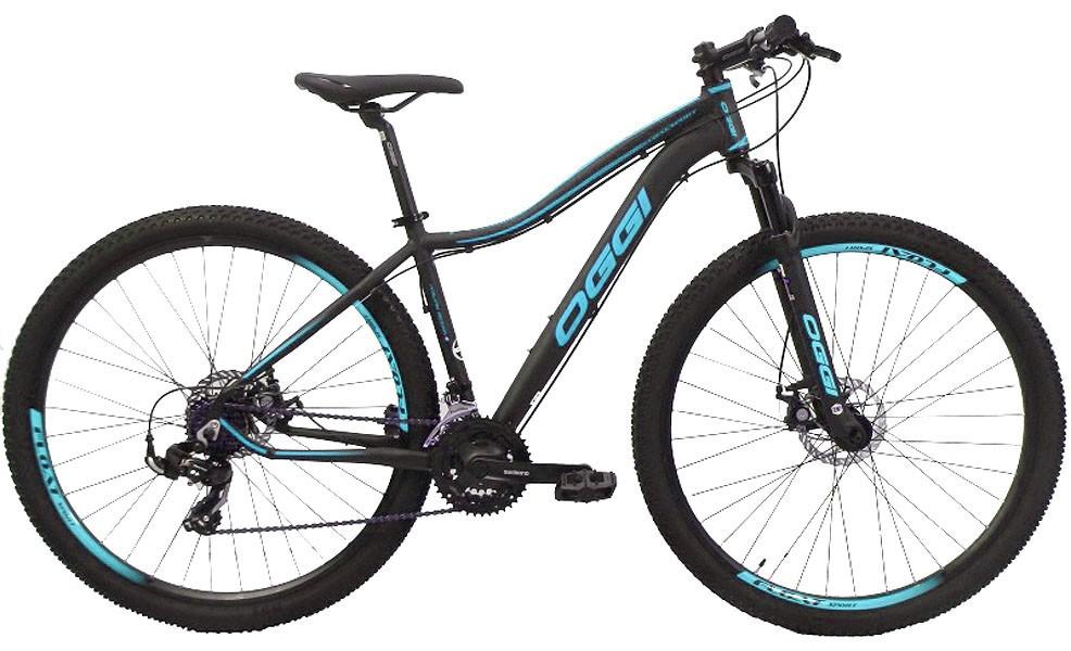 Bicicleta Oggi - Float Sport Feminina - Preta / Azul Tiffany + Brinde