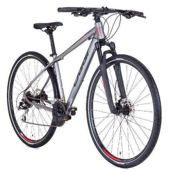 Bicicleta Oggi - Lite Tour 700 - Prata / Vermelha + Brinde