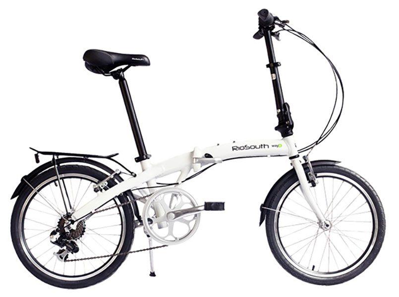 Bicicleta Rio South Way D - Dobrável - Branca