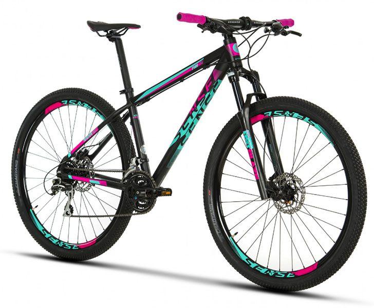 Bicicleta Sense Fun - 2019 - Preta / Rosa / Acqua