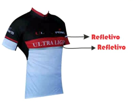 Camisa Penks - Ultralight - Preto / Vermelho / Branco