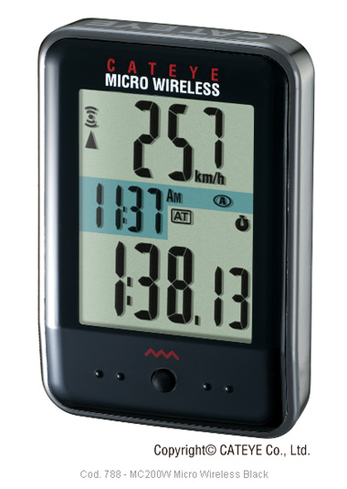 Ciclocomputador Cateye - Micro Wireless CC-MC200W