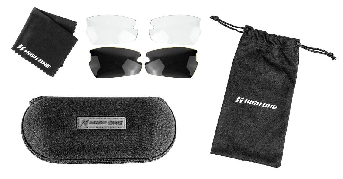 Óculos High One - Iron - 3 Lentes - Branco / Vermelho