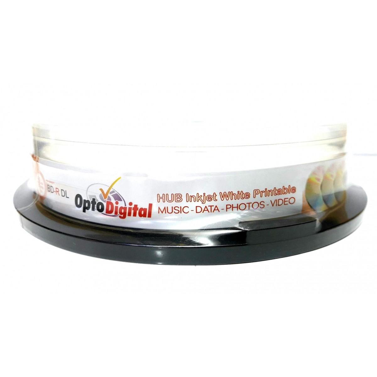 10 Mídia Virgem Bluray Bd-r Dual Layer Opto Digital Printable 50gb 270min