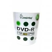 100 Mídia Virgem DVD-R Smartbuy Logo 4.7gb 120min