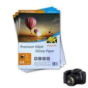 100 Folhas A4 Papel Fotográfico Glossy 135g
