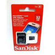 1 Cartão Memória Micro Sd Sandisk 32gb Hd
