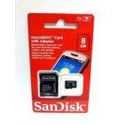 1 Cartão Memória Micro Sd Sandisk 8gb Hd